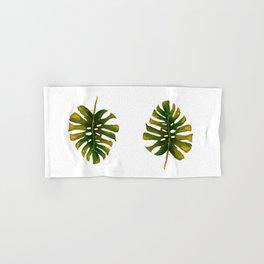Monstera leaf Hand & Bath Towel