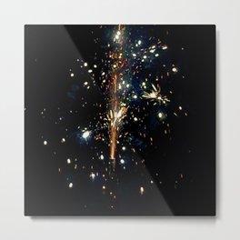 Sky Glitter Metal Print