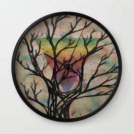 Colors through the trees Wall Clock