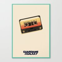 guardians of the galaxy Canvas Prints featuring GUARDIANS OF THE GALAXY by Anthony Morell