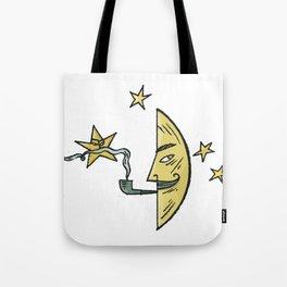 Smoking Moon Tote Bag