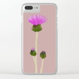 Cirsium Arvense Clear iPhone Case