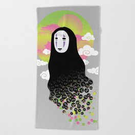 No Face and Soot Sprites Beach Towel
