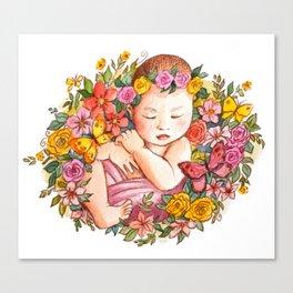 Rock-a-bye Baby Girl Canvas Print