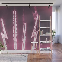 When Lightning Strikes (Fuchsia Edit) Wall Mural