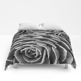 Cactus succulent botanical black and white photo Comforters