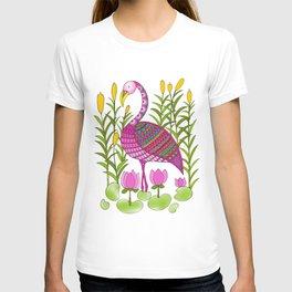 Flamingo and Lotuses T-shirt