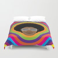afro Duvet Covers featuring Afro Funky by Roberlan Borges