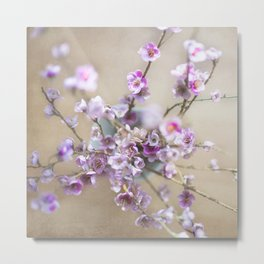 Purple Willow Metal Print