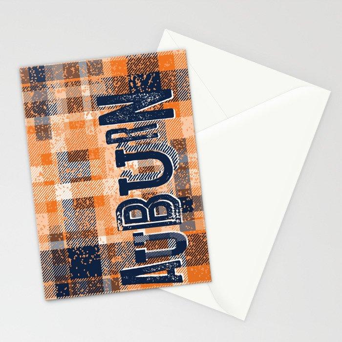 Auburn Plaid Stationery Cards