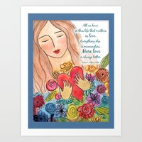 More Love is Always Better Art Print