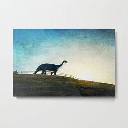 Where Dinosaurs Walk Metal Print