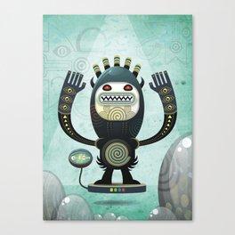 Alien Guard Canvas Print