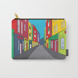 Narrow Shopping Street Carry-All Pouch