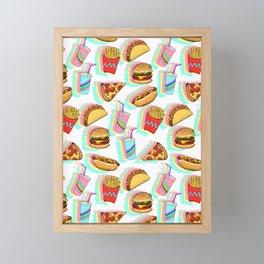 Rainbow Fast Food Framed Mini Art Print