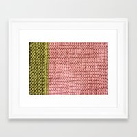 knit Framed Art Prints featuring Knit by Melissa Jackson