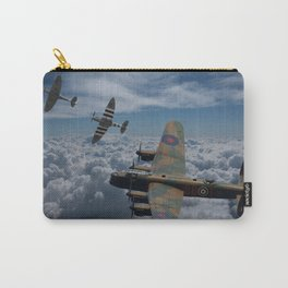 Lancaster Bomber and Spitfires Carry-All Pouch