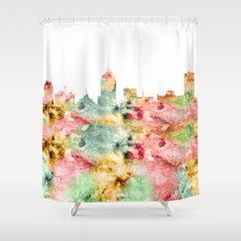 Fresno City Skyline California Shower Curtain