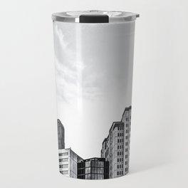 modern buildings at Las Vegas, USA in black and white Travel Mug