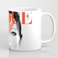 vogue Mugs featuring VOGUE III by Irene D'Anto'