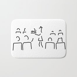 stewardess flight attendant conductor guard Bath Mat