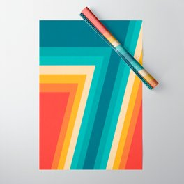 Colorful Retro Stripes  - 70s, 80s Abstract Design Wrapping Paper