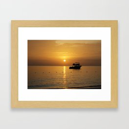 Sunset in Jamaica  Framed Art Print