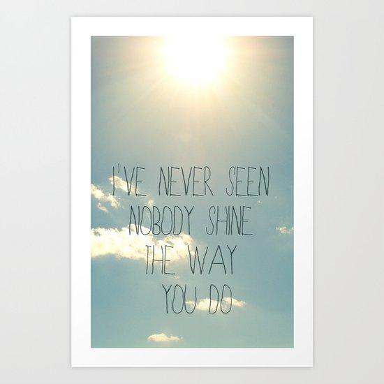 sky lyrics Art Print