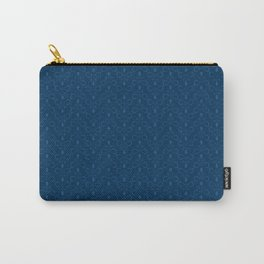Classic Blue Twirl Carry-All Pouch