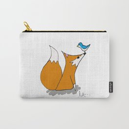 Mr. Fox and Bird Carry-All Pouch