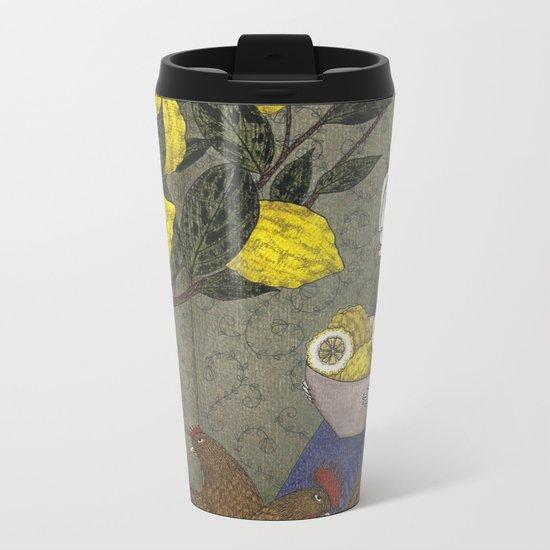 The Lemon Picker Metal Travel Mug