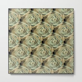 Abstract pattern , spiral. Metal Print