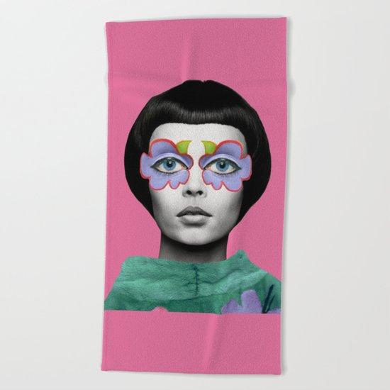 collage art #33 Beach Towel