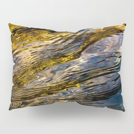River Ripples in Copper Gold and Brown Pillow Sham