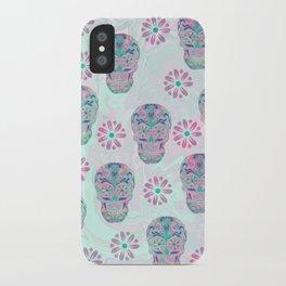 Marbled Sugar Skulls iPhone Case