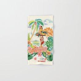 Vintage Hawaiian Travel Poster Hand & Bath Towel