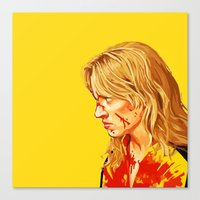 kill bill Canvas Prints featuring kill Bill by Maioriz Home