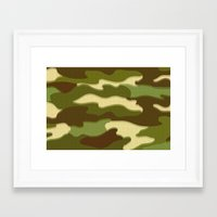 camo Framed Art Prints featuring CAMO by Bruce Stanfield