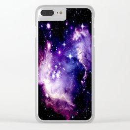 Galaxy .  Deep Purple & Blue Clear iPhone Case