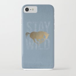 Horse (Stay Wild) iPhone Case
