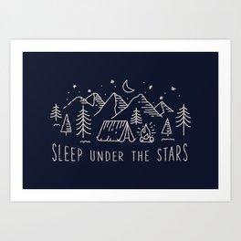 Sleep under the stars Art Print