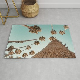 {1 of 2} Hug a Palm Tree // Tropical Summer Teal Blue Sky Rug