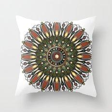 Tech Mandala Throw Pillow