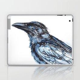 Crow with Blue Laptop & iPad Skin