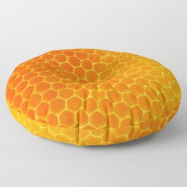 NATURES GOLDEN HONEYCOMB WAX ART PATTERN Floor Pillow