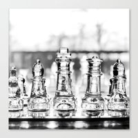 chess Canvas Prints featuring Chess by Orison Crafts