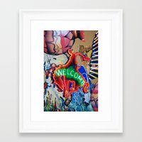 welcome Framed Art Prints featuring Welcome by John Turck