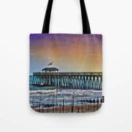 Myrtle Beach State Park Pier - Photo as Digital Paint Tote Bag