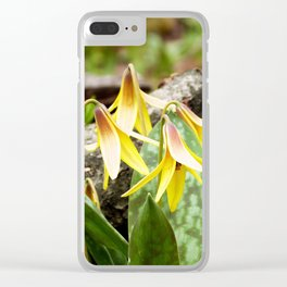 Trout Lilies in the Spring Clear iPhone Case