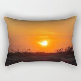 Sea Oat Sunset Rectangular Pillow